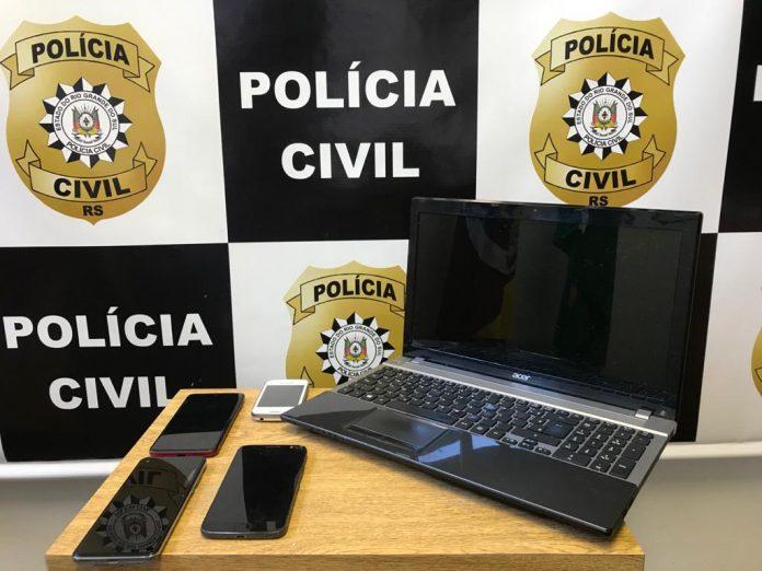 Homem é preso por pornografia infantil em Novo Hamburgo. (Imagem: Divulgação / Polícia Civil