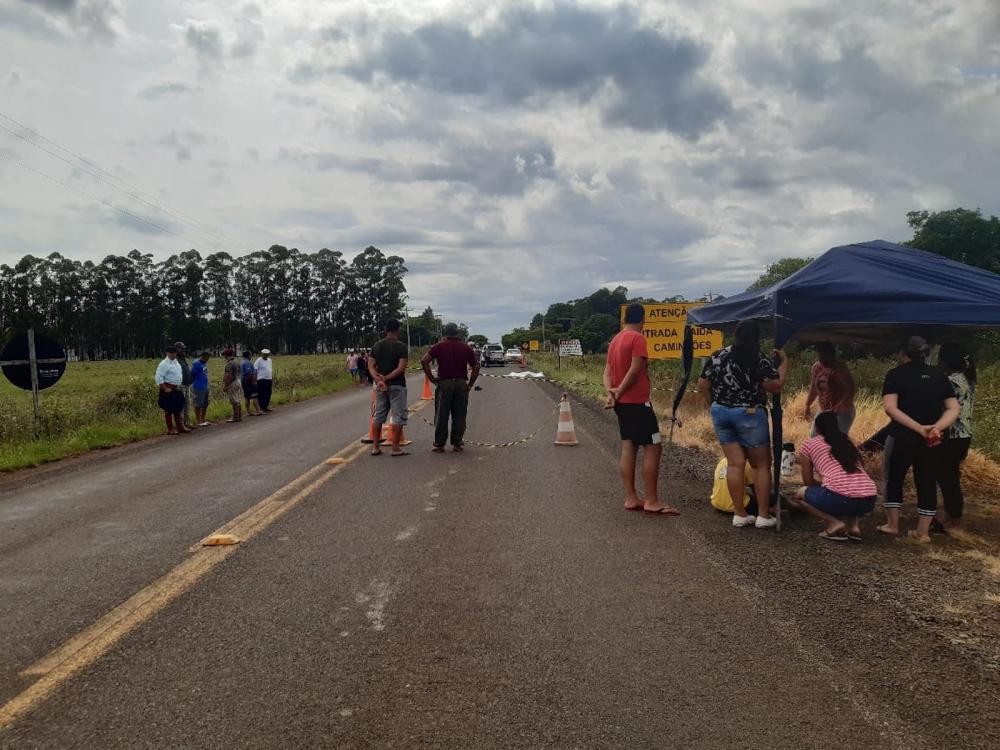 Brigada Militar recebeu chamado por volta das 6h deste sábado (15) — Foto: Brigada Militar / Divulgação