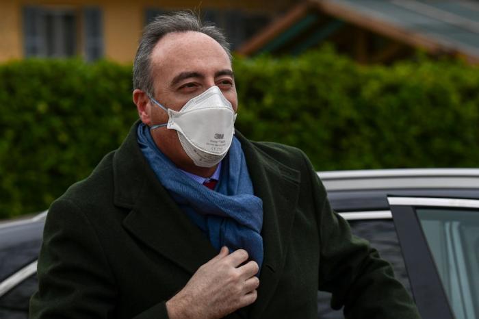 Giulio Gallera, principal responsável pela saúde na região da Lombardia, afirmou que houve desaceleração no número de casos Miguel Medina / AFP