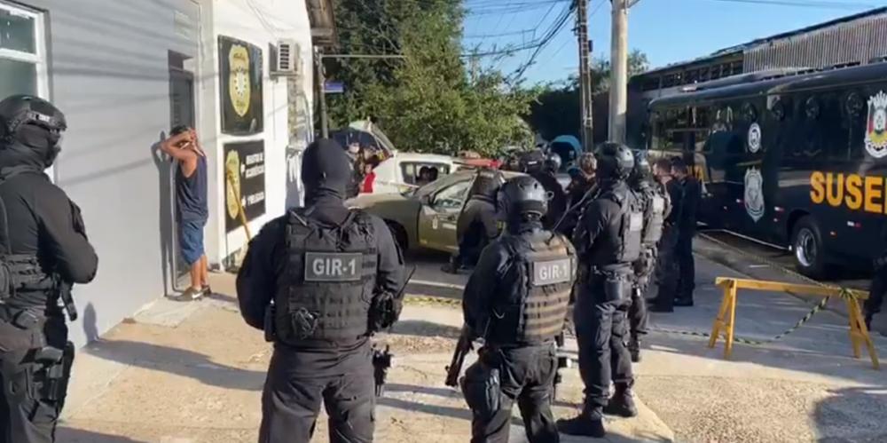 Com fortemente esquema de segurança, a ação ocorre em São Leopoldo, Novo Hamburgo e Canoas | Foto: Susepe / Divulgação / CP
