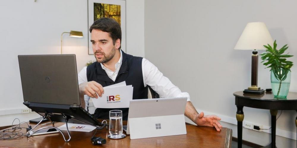 Anúncio foi realizado em videoconferência nesta quinta-feira   Foto: Felipe Dalla Valle / Palácio Piratini / CP