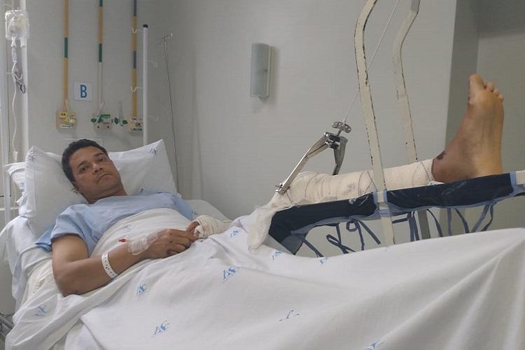 Ex-vereador de Santa Cruz do Sul conta momentos de pavor após acidente: 'Nasci de novo'
