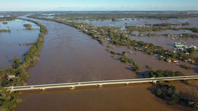 Nível do Rio Taquari já passa dos 10 metros em Vila Mariante em Venâncio Aires
