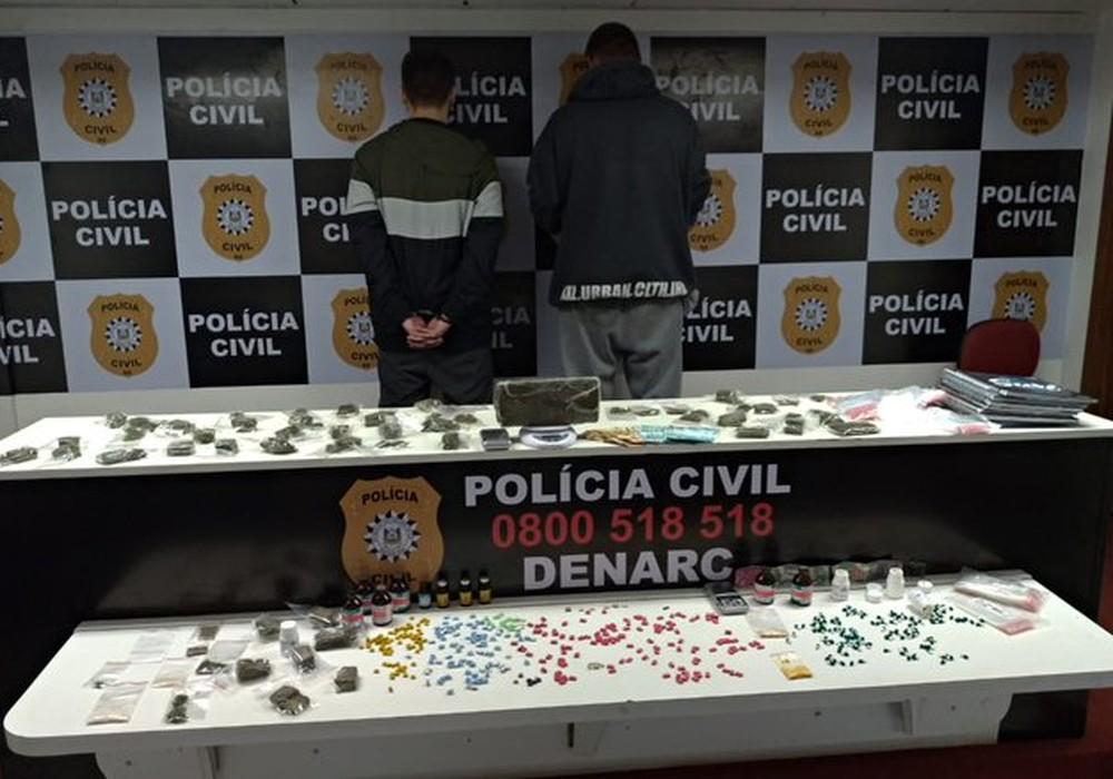 Homens foram presos durante operação da Polícia Civil. — Foto: Polícia Civil/Divulgação