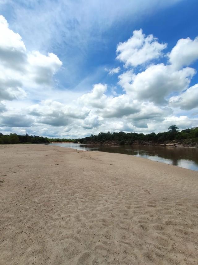 Adolescente está desaparecida no Balneário Passo Verde, em Santa Maria. — Foto: Fabiana Lemos / RBS TV