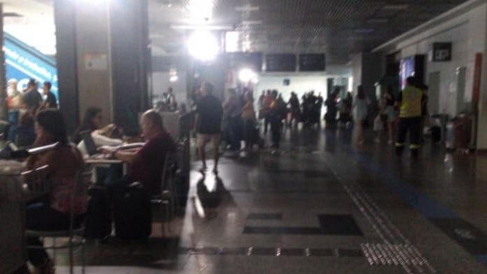 Aeroporto Salgado Filho foi afetado pela falta de energia | Foto: Nara Juszkevicz/Arquivo Pessoal