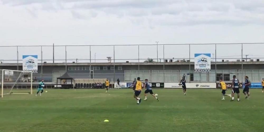 Renato comandou treino do Grêmio pela primeira vez na temporada | Foto: Twitter / Grêmio / Reprodução / CP